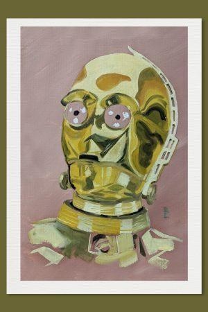 C3PO A4 Print Star Wars