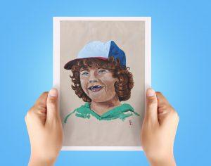 Dustin Henderson A4 Print Stranger Things Netflix