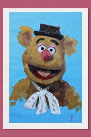 Jim Henson Fozzie Print Muppet Show