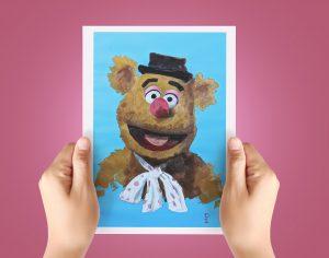 Jim Henson Fozzie Print The Muppets