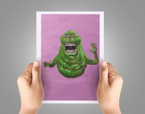 Print ghostbusters Slimer